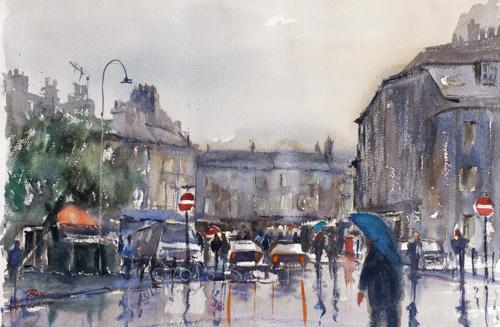 Wet Day In Bath