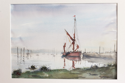 Thames Barge, Early Morning