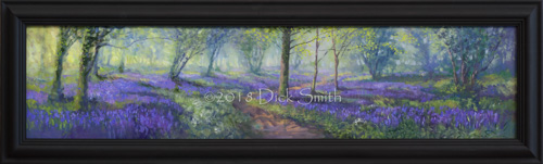 Panoramic Bluebell Forest (in black frame)