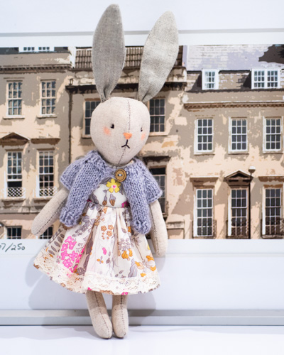 Bath Bunny in Lace Dress - Handmade In Bath