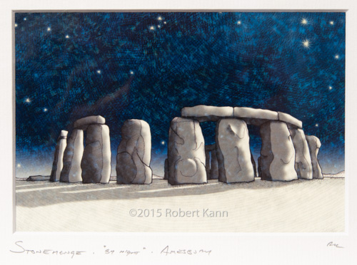 Stone Henge • by night