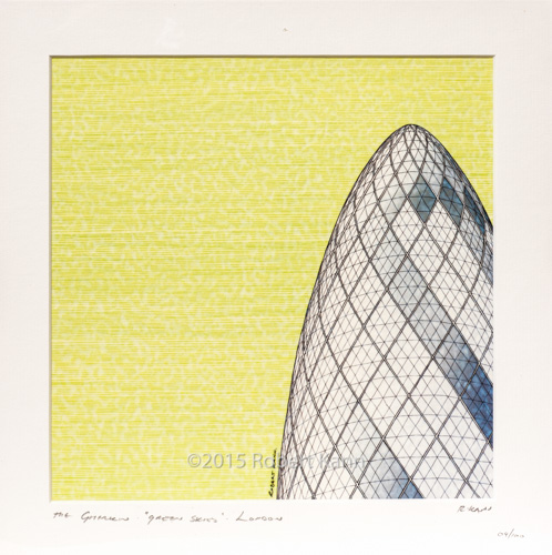 The Gherkin Green Sky London 04/100