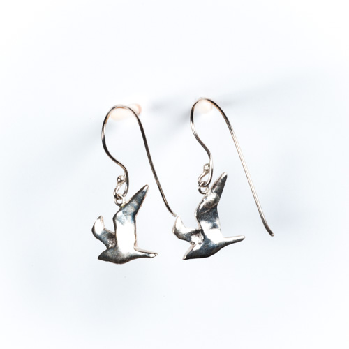 Seagull (Wings Up) Drop Earrings