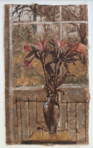 Flowers Against a Window