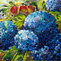 Hydrangeas With Apples II
