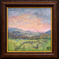 A little magic: Sunset, Grazing Dairy Herd