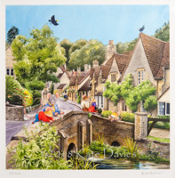 Visiting Castle Combe (mounted) xx/250