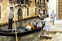 Gondoliers in Conversation, Venice