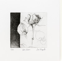 Etching of a Rose's Blossom (Bud)