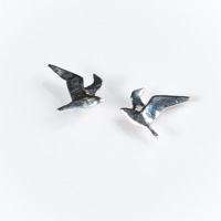 Seagull (Wings Up) Stud Earrings