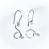 Swan Link Earrings