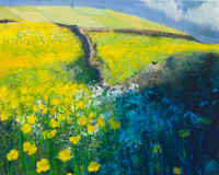 Bright Buttercups in the Meadow, Blackbird Serenading