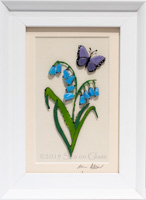 Butterfly/bluebell
