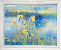 Yellow Iris by the River Avon
