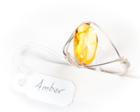 Yellow Amber Ring